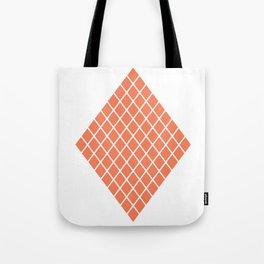 Geometric shape t-shirts & prints: Coral Diamond Rhombus (Rhom x Rhom) Multiple colours available... Tote Bag