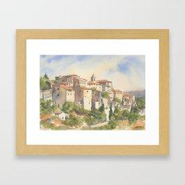 Gordes, France Framed Art Print