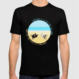 Frenchies Rolling In The Sand T-shirt