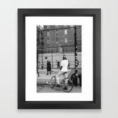 New York Basketball Framed Art Print