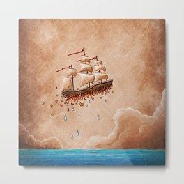 Fantastic Voyage - Flying Ship Metal Print