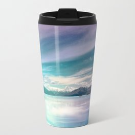 Peaceful Blue Lake Pukaki, New Zealand Travel Mug