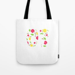 """A Birthday Tee For 16th Birthday """"Made In 03 16 Years Of Being Awesome"""" T-shirt Design Natal Flower Tote Bag"""