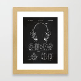 Headphone patent Framed Art Print