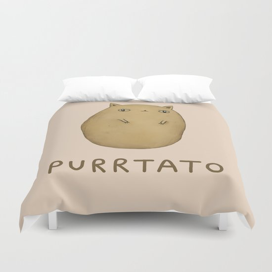 Purrtato Duvet Cover