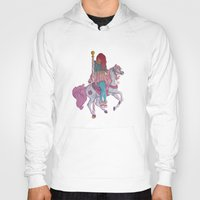carousel Hoodies featuring Carousel by Leigh Wortley