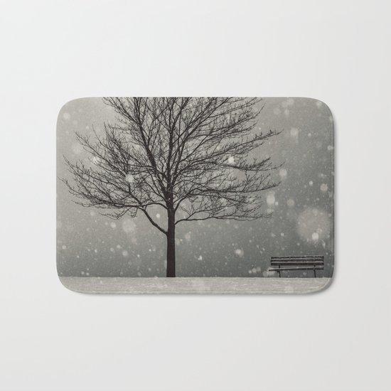 January Snow Bath Mat