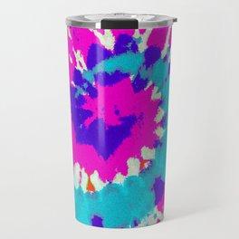 Batik Flower Power Spiral grunge Travel Mug