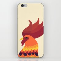 cock iPhone & iPod Skins featuring Cock by Volkan Dalyan