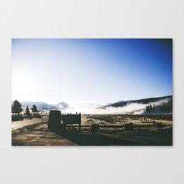 A Drive Through Yellowstone Canvas Print