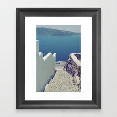 Santorini Stairs III Framed Art Print