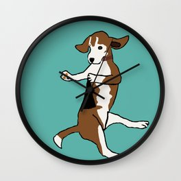 The Dancing Beagle Wall Clock