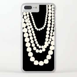 Fashion Designer Icons: Pearls Clear iPhone Case