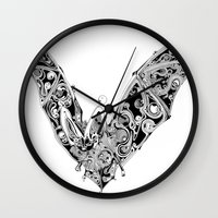 bat Wall Clocks featuring Bat by Gwyn Hockridge