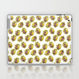 Butter Yellow Pansies Pattern Laptop & iPad Skin