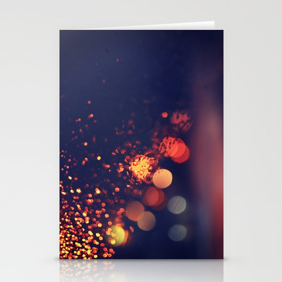 Driving In The Rain Stationery Cards