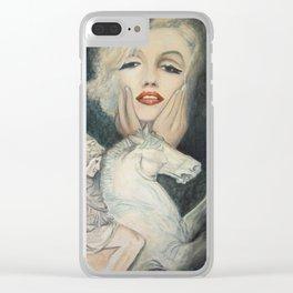 Marilyn - oh diese Männer! - Ölgemälde Clear iPhone Case
