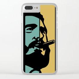 Fidel Castro Retro Clear iPhone Case