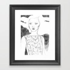 White Pollen Framed Art Print