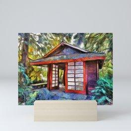 Tea House in the Forest Mini Art Print