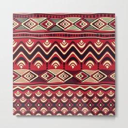 African Tribal Pattern No. 116 Metal Print