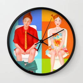 Boy meets girl Wall Clock