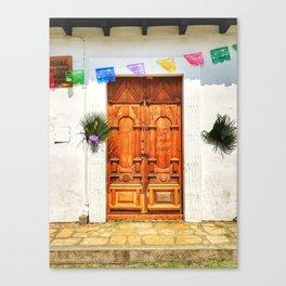Door, Holy Week - Chiapas, Mexico Canvas Print