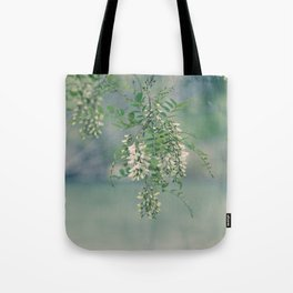 White Spring Blossoms Tote Bag