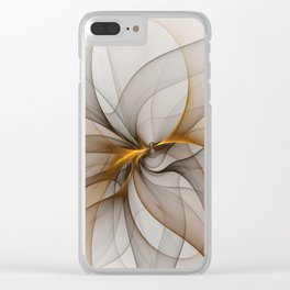 Elegant Chaos, Abstract Fractal Art Clear iPhone Case