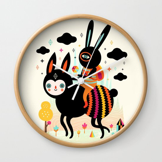 Walking Away Wall Clock