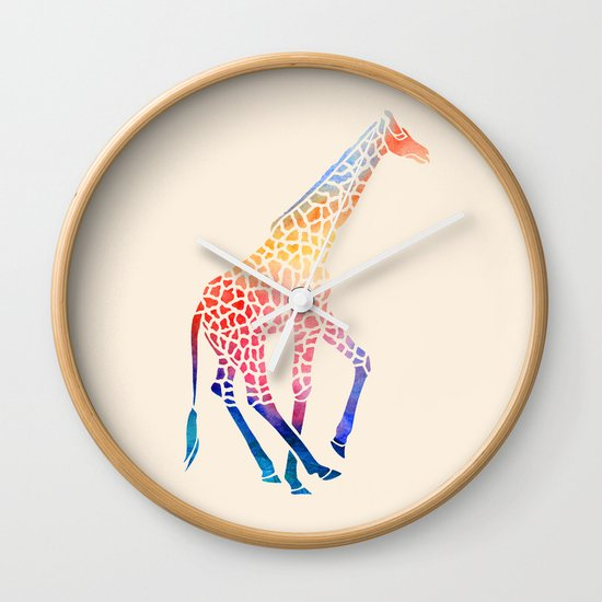 Watercolor Giraffe Wall Clock