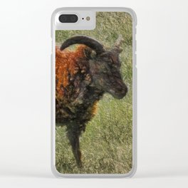Soay Sheep Clear iPhone Case