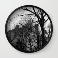 fifth element Wall Clocks featuring Fifth Avenue by Wages of Fear