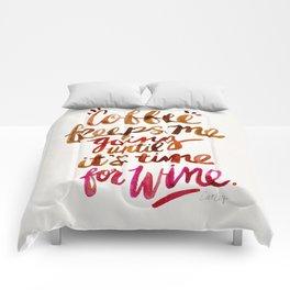 Coffee & Wine – Brown & Magenta Ombré Comforters