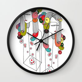 Sisters in a bottle Wall Clock