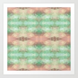 Mozaic design in soft pastel colors Art Print
