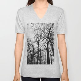 Cottonwood Forest B+W Unisex V-Neck