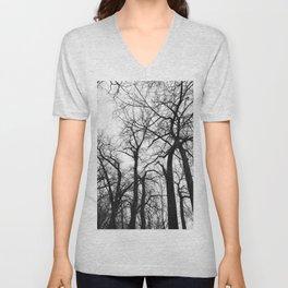 Cottonwood Forest B+W Unisex V-Neck