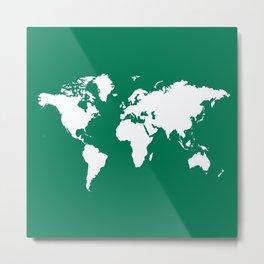 Emerald Elegant World Metal Print
