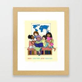 Read Together Stay Together Framed Art Print