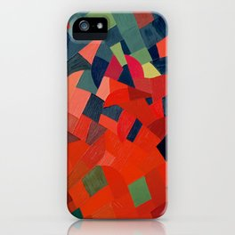Grün-Rot Otto Freundlich 1939 Abstract Art Mid Century Modern Geometric Colorful Shapes Hard Edge iPhone Case
