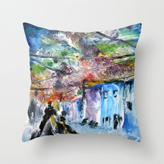 A Sky of Wires Throw Pillow