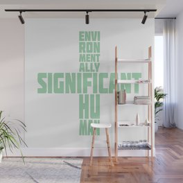 Environmentally significant human in green mint Wall Mural