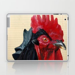 Rooster in Gouache Laptop & iPad Skin