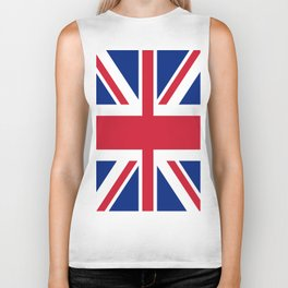 flag of uk- London,united kingdom,england,english,british,great britain,Glasgow,scotland,wales Biker Tank