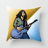 dave matthews Throw Pillows featuring Dave by Kramcox