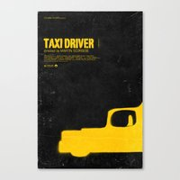 taxi driver Canvas Prints featuring TAXI DRIVER by maxime pecourt
