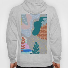ABSTRACT TROPICAL JUNGLE PATTERN CLASHING Hoody