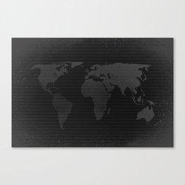Retro world map Canvas Print