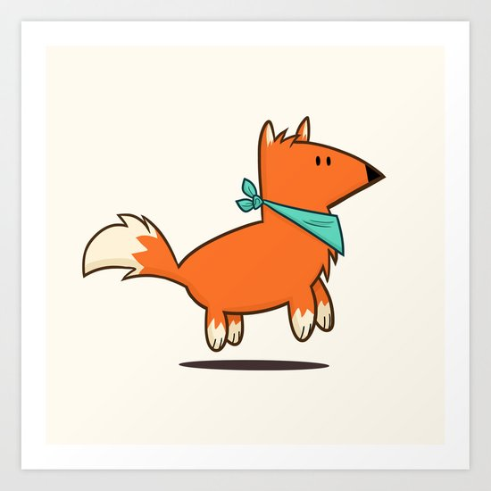 Fox Hop Art Print